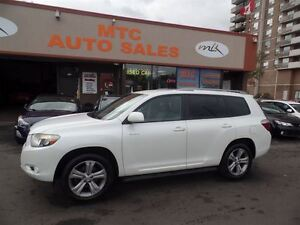 2008 Toyota Highlander V6 Sport AWD 7 Seater Roof Rack Backup Ca