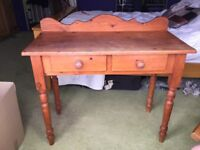 2 drawer wooden dressing table