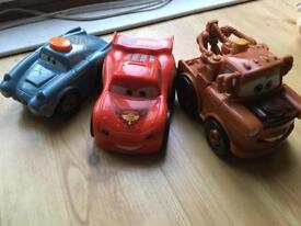 Disney Pixar Cars 2 Lightning McQueen, Mater Finn McMissile