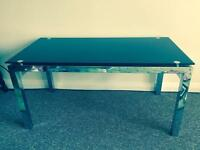 Black Glass coffee table as new condition