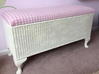Wicker blanket box