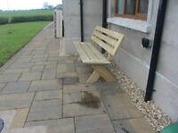 garden bench summer seat sits 4