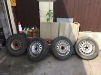 Vivaro trafic primastar steel wheels and tyres