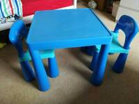 Kids blue table & chairs by Liberty Home RRP £49.99)