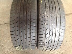 205/50/16 x 2 second hand tyres £35/fitted branded tyres / £35..