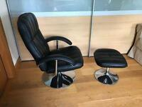 Swivel & recliner chair & footstool