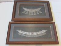 2 Desert art Bedouin necklaces wall frames decor arabia applique linkages beads, tassels rrp: £200