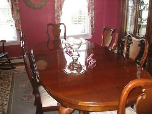 details about thomasville cherry dining room set