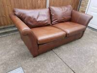 Real leather 2 seater sofa FREE DELIVERY