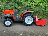 YANMAR F-7 4WD Compact Tractor & New Flail Mower *** NICE TRACTOR *** ** 549 Hours ** all setup