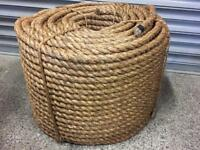 Brand new 24mm natural Manila x 220m coil, decking garden rope, gym climbing fitness rope