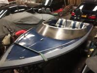 "Picton speed boat 16.5"", 85hp mercury thunderbolt outboard, trailer."