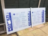 2 sheets of 10 mm polycarbonate