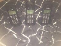 3 Panasonic wireless phones. Brand new never used