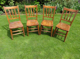 Set of 4 old dining chairs