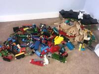 Thomas the tank engine numerous engines and wooden track cost over £800