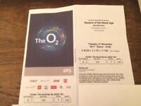 1 Queens of the Stone Age seated ticket, O2 arena, 21st November 2017.