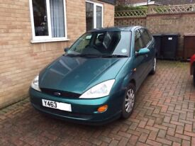 2001 (Y) Ford Focus 1.6L LX for sale. 5 door hatchback with low mileage (89k)