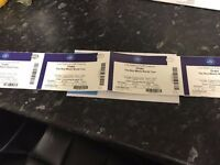 4 Seated Drake tickets, 2nd Feb, great seats £130