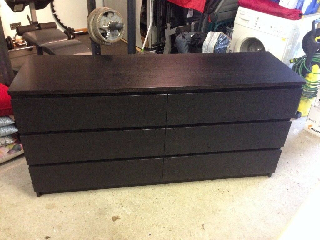 Black IKEA 6 drawer unit.