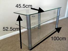 Glass TV Stand - New condition