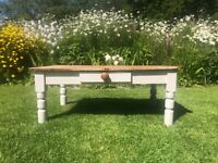 Rustic Coffee Table Solid Wood