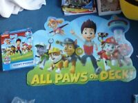 Nickelodean Paw Patrol giant puzzle.