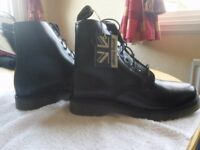 Blackmans black leather ankle boots, size 6, air cushion sole. Brand new with tags.