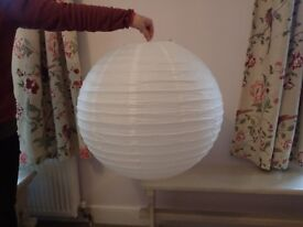 White Paper Lanterns - Large x 9 - Great for Weddings or other Parties