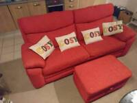 Red sofa 3 piece suite