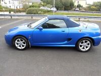 2002 MG TF 135 TROPHY BLUE SPORTS CONVERTIBLE - FULL MOT - BEAUTIFUL CONDITION