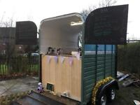 Vintage Catering trailer/horse trailer conversion/coffee/gin bar/weddings