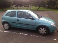 Vauxhall Corsa 1.3 cdti, £30/year road tax!
