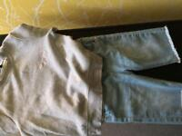 Girls age 10 denim shorts with River Island 9/10 top
