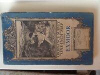 Vintage Ordnance Survey fifteenth edition Exmoor map 119