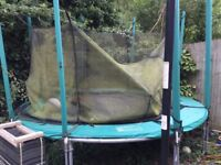 Trampoline frame, safety net poles and other spare parts