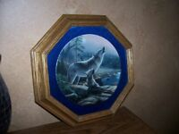 Collectible Plates & Frames - Wolves