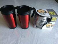 2 Coffee Mugs and Self Stirring Mug