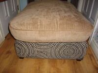 LARGE SQUARE POUFFE EXCELLENT CONDITION £20 BARGAIN FIRST TO SEE WILL BUY