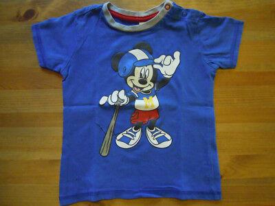 C&A DISNEY Mickey Mouse Maus T-Shirt blau Gr. 92 - wie neu!!!