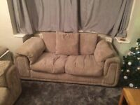 3 seater & 2 seater fabric sofa - free - must collect