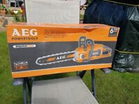 AEG 50v Pro Lithium Brushless Motor Chainsaw. Battery & charger NOT included. Brand new