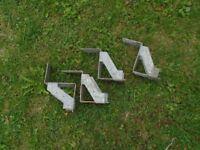 4 JOIST HANGER BRACKETS.