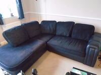 Corner Sofa, Black, Used but Good Conditon. Collection Only!
