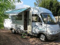 Hymer B644 A-Class, LHD, 2.8 diesel,6 berth and belt , cream leather interior