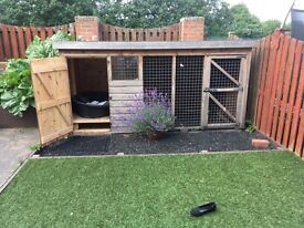 Outdoor dog kennel and run
