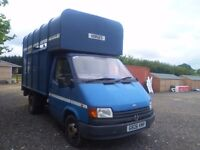 FORD TRANSIT HORSE BOX-G-1990 DIESEL 2.5 MOT D 2 HORSE REAR RAMP ** READY TO GO FOR SUMMER *