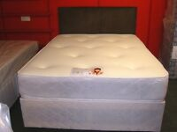 King Size (5Ft) Divan Bed Set with Orthopaedic Memory Foam Sprung Mattress . Brand New in Wrapping