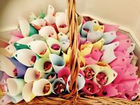 Home grown natural rose petal confetti