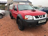 VERY LOW MILES NISSAN NAVARA 2.5 DI TURBO KING CAB 71000 MILES TOWBAR LONG MOT TILL 14/05/2017